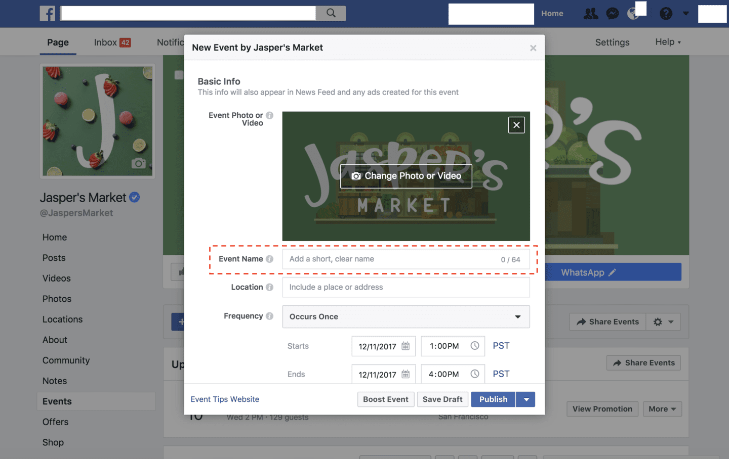 How to Use the Facebook Events Feature